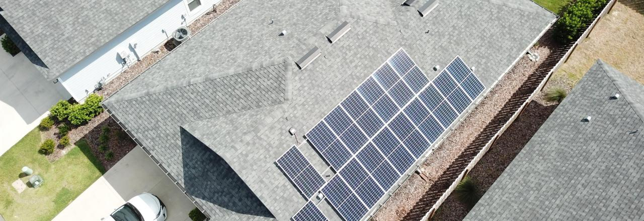 Solar Array on Residential Building