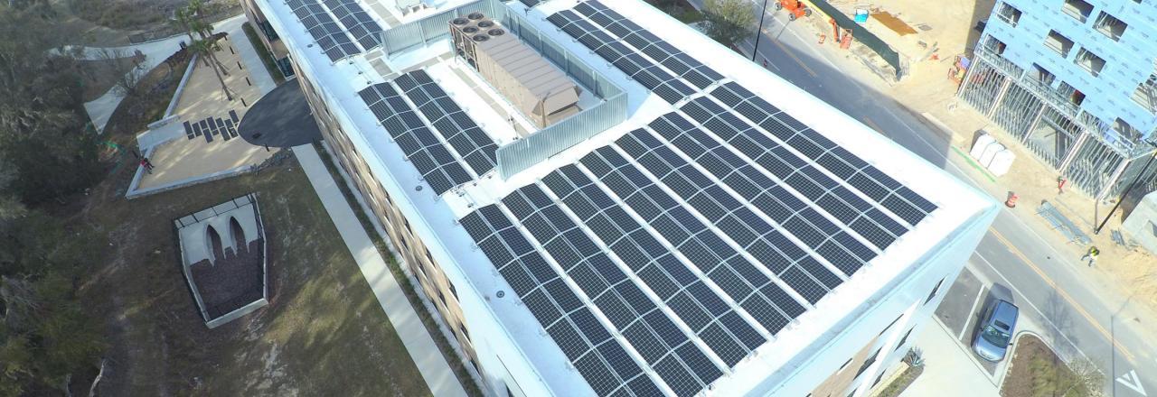 Solar Array on a Commercial Building