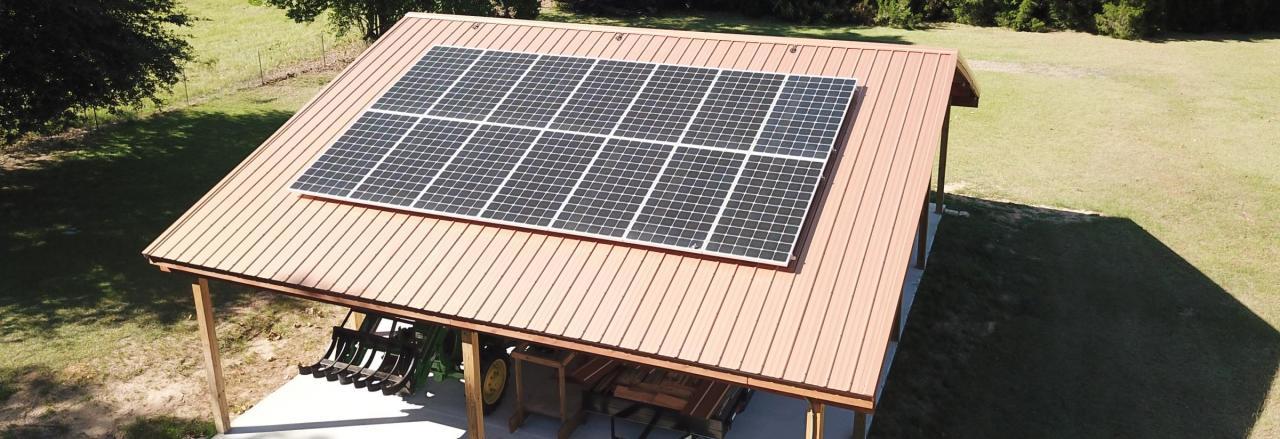 Solar Array on a pole barn