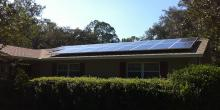solar power units on residential home