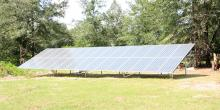 ground mounted solar panels on property
