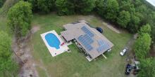 Solar system on residential florida home