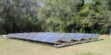 ground mounted Solar in Field