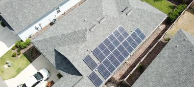 Solar Array on Residential Building
