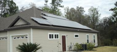 Solar panels on house in Gainesville, Florida