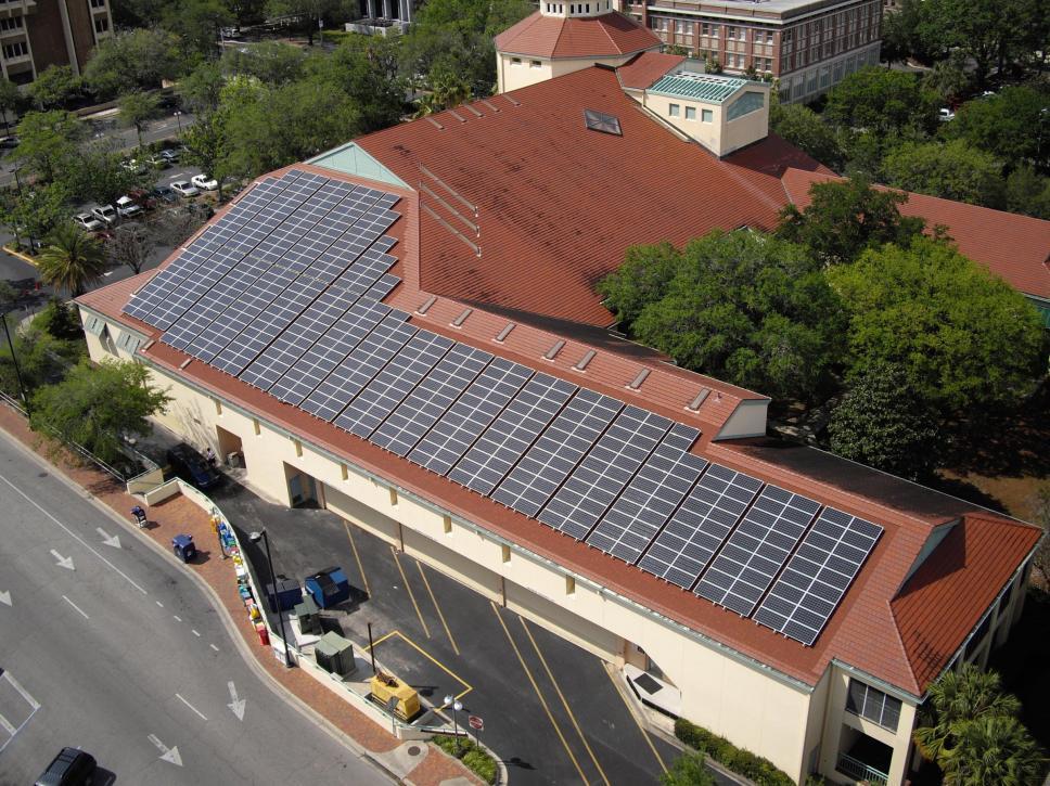 alachua county library solar project