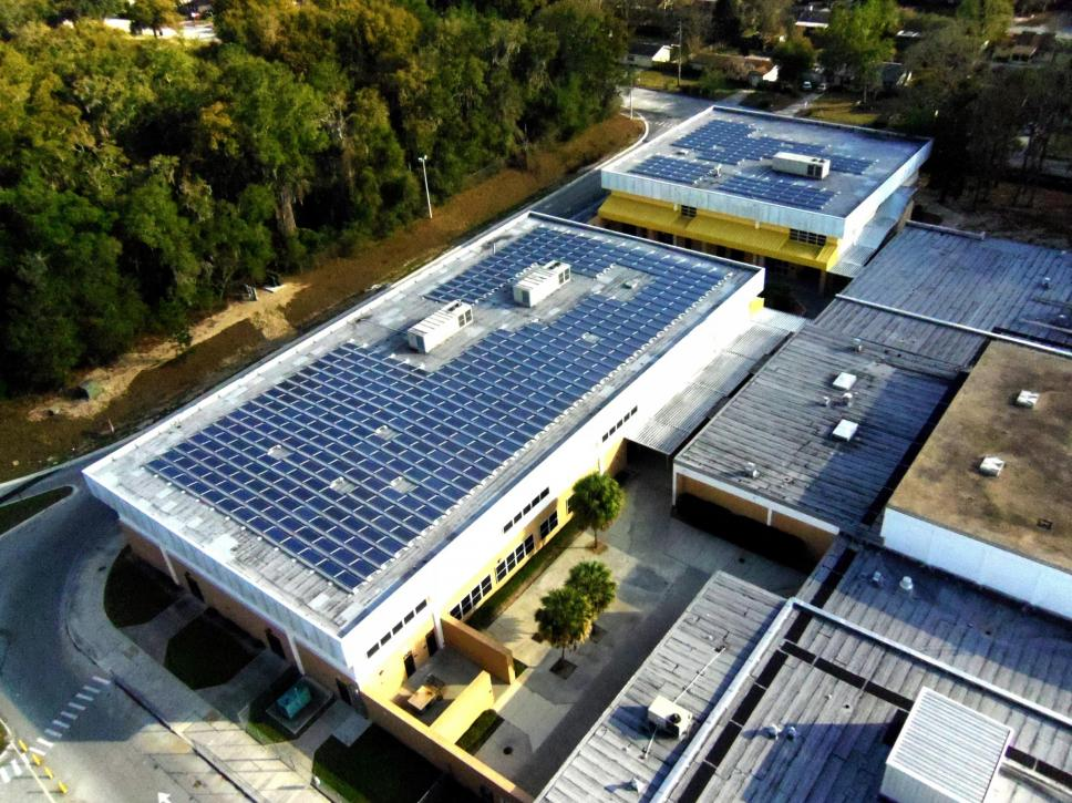 Buchholz high school solar project