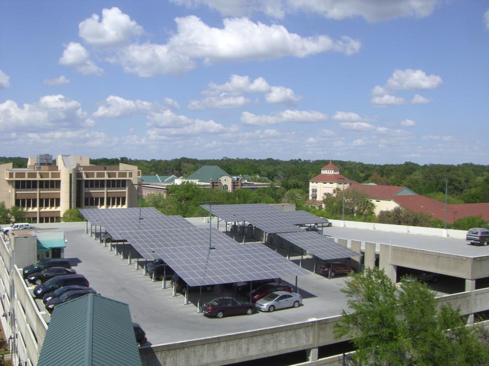 Parking grage solar project
