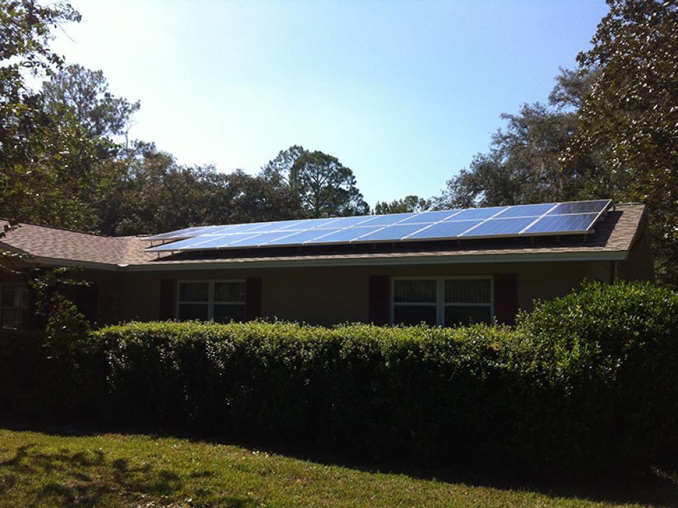 Solar on home 21