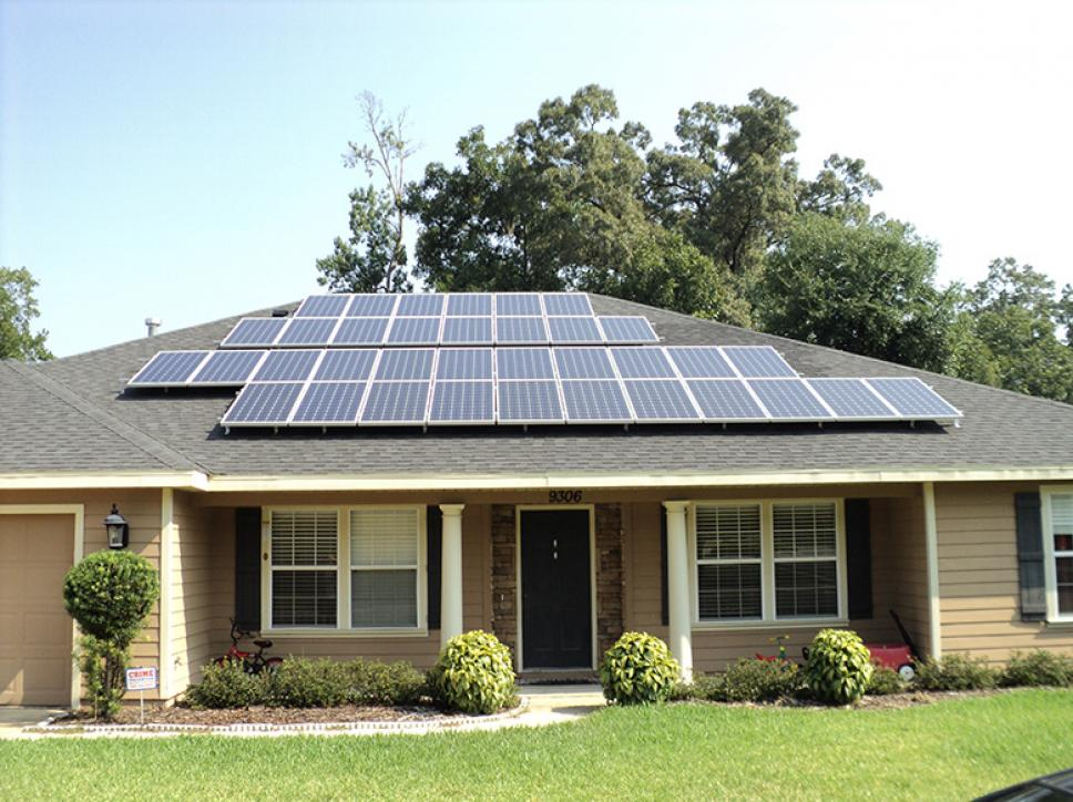 roof mounted solar panel system