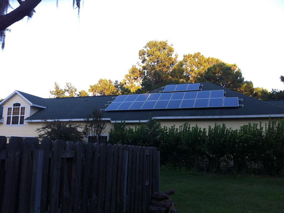 Solar on home 14