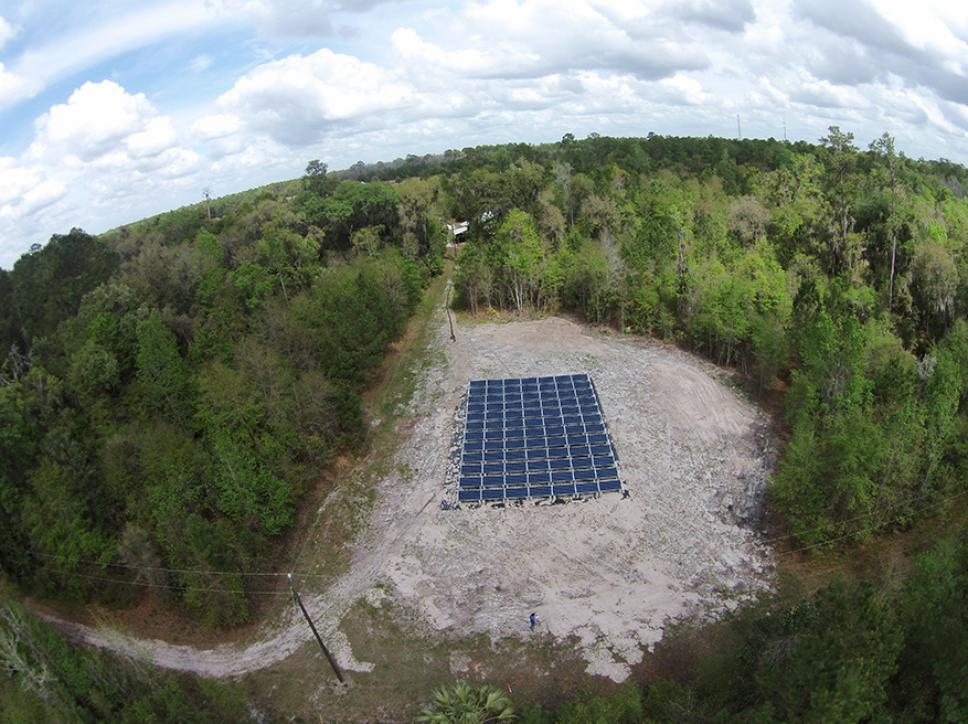 Solar energy system in field