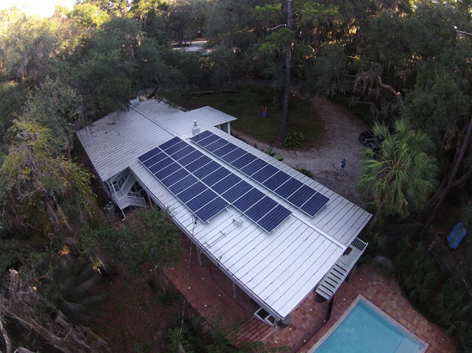 Solar on home 17